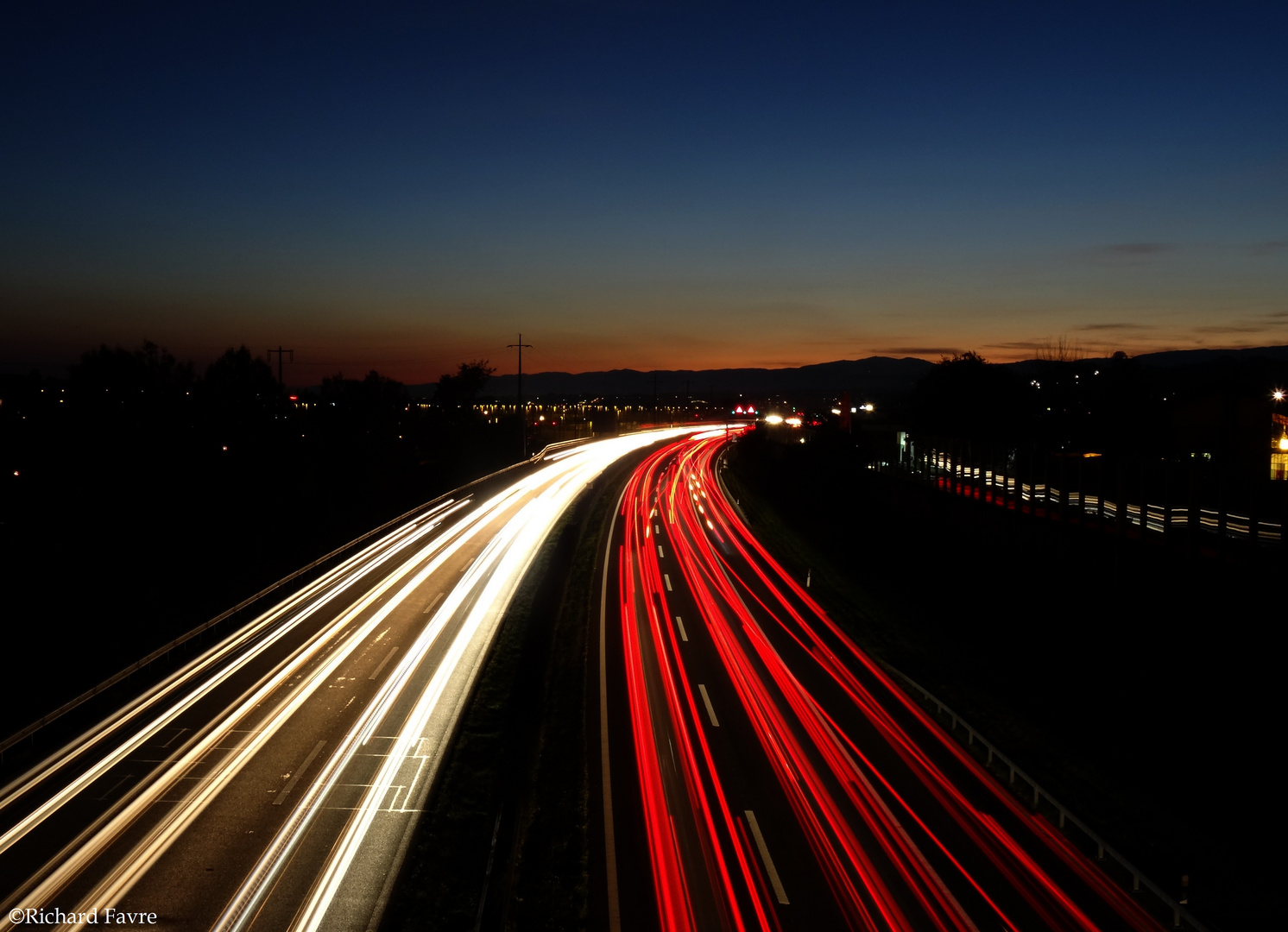 L'autoroute A1 en direction de Genève