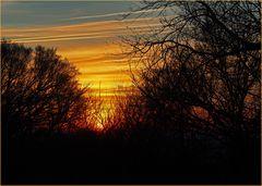 L'avantage d'un coucher de soleil en hiver