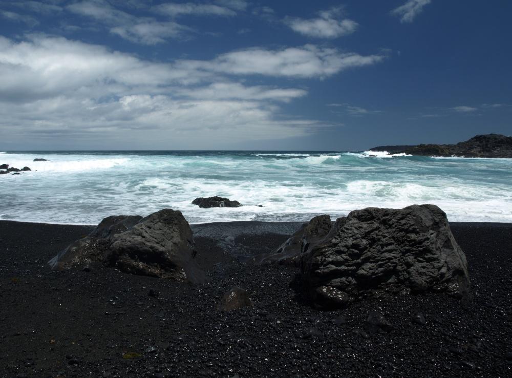 Lavastrand auf Lanzarote