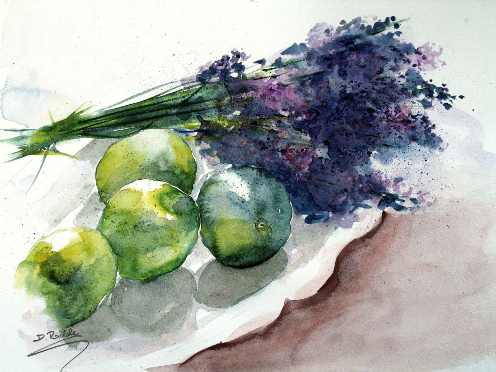 Lavendel mit Limetten