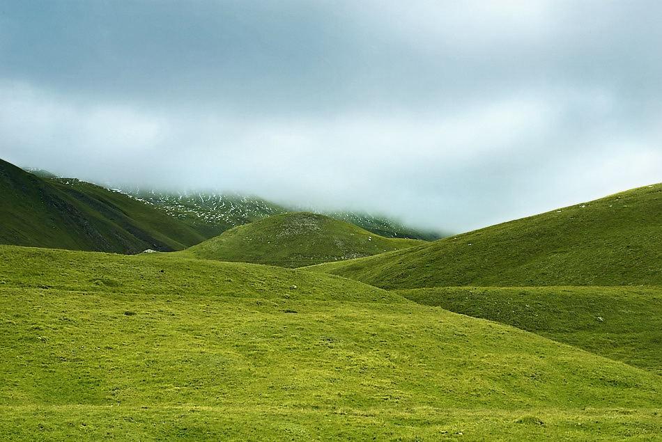 Layered Mountain Landscape (France)