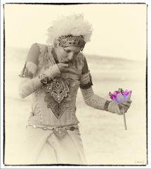 Le baiser à la fleur