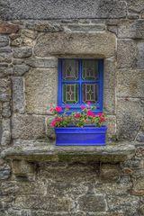Le cadre de fenêtre bleu