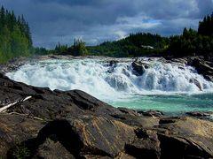 Le cascate di Lackforssen