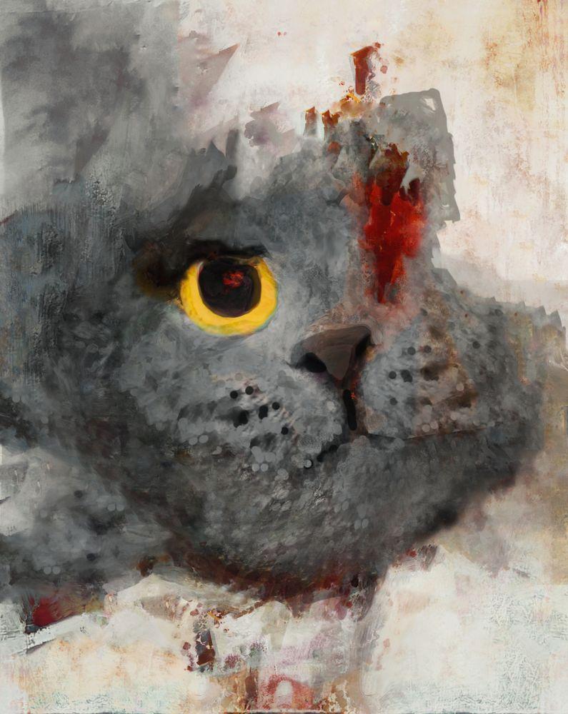 Le chat Foto & Bild | digiart, chat, gemälde Bilder auf