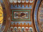 Le Christ en gloire  --  Plafond du chœur de l'Eglise St Nicolas de Civray