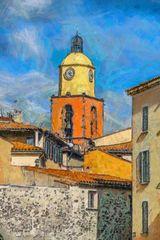 Le clocher de l'église de St Tropez