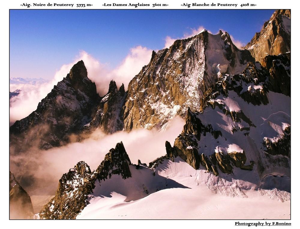 Le creste del Massiccio del Monte Bianco versante Sud