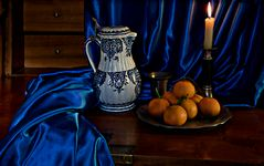 Le drapé bleu