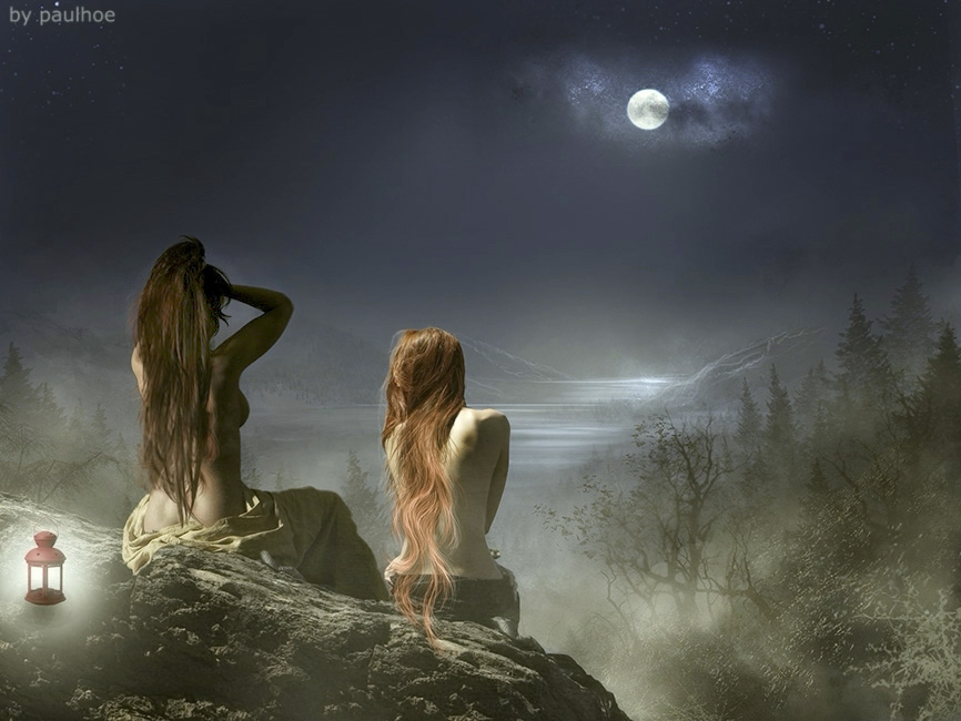 Le driadi dei boschi.....si offrono alla luna....per una tintarella!!!!