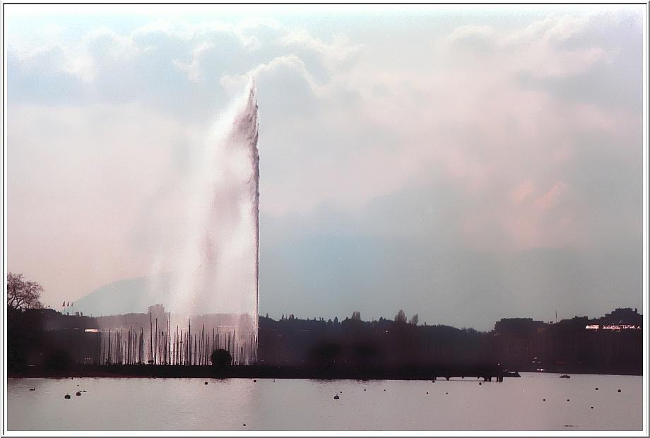 Le jet d'eau de Genève