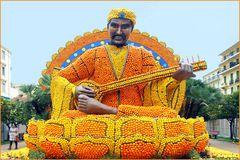 le joueur de sitar  au carnaval de menton !