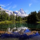 Le Lac Bleu .... e il maestoso Cervino