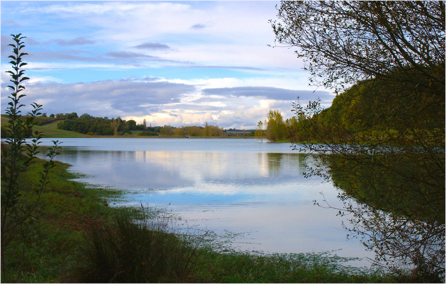 Le lac du Bousquetarra à l'automne-2 - Der Bousquetarra-See im Herbst-2