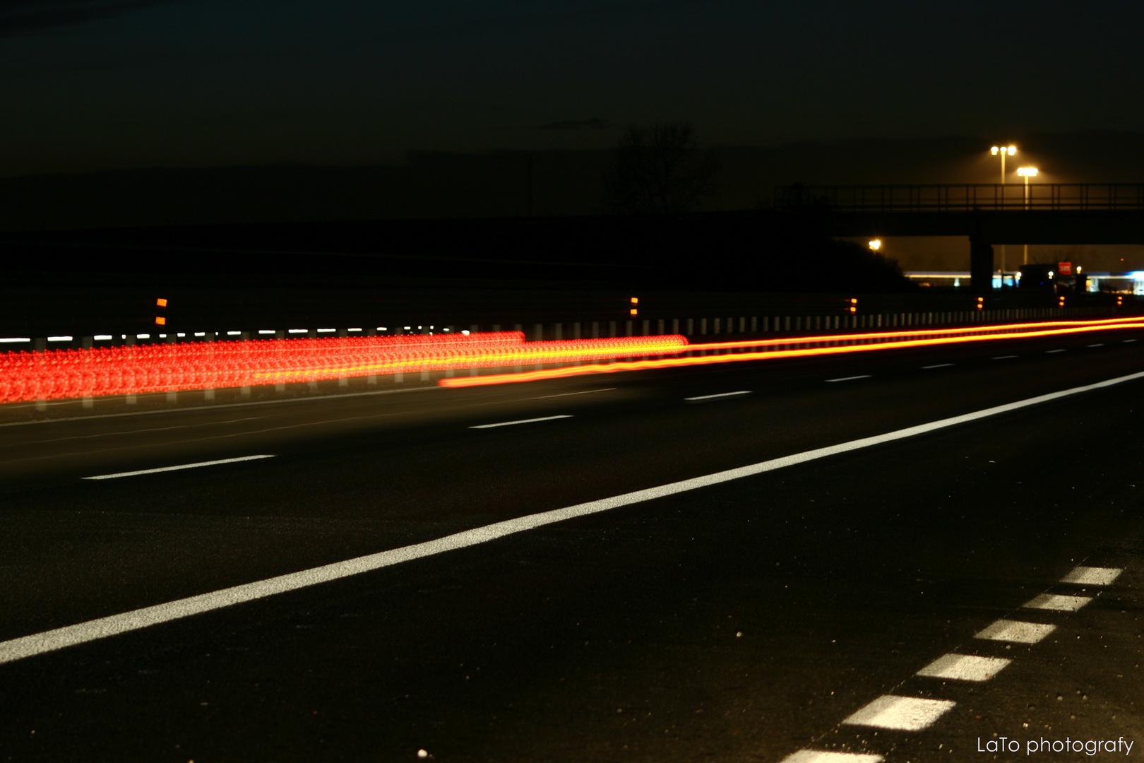le luci dell'autostrada...