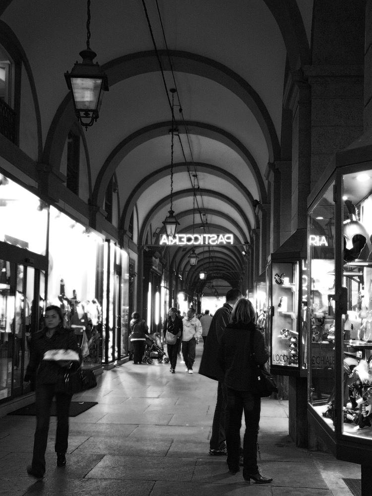 Le luci dello shopping
