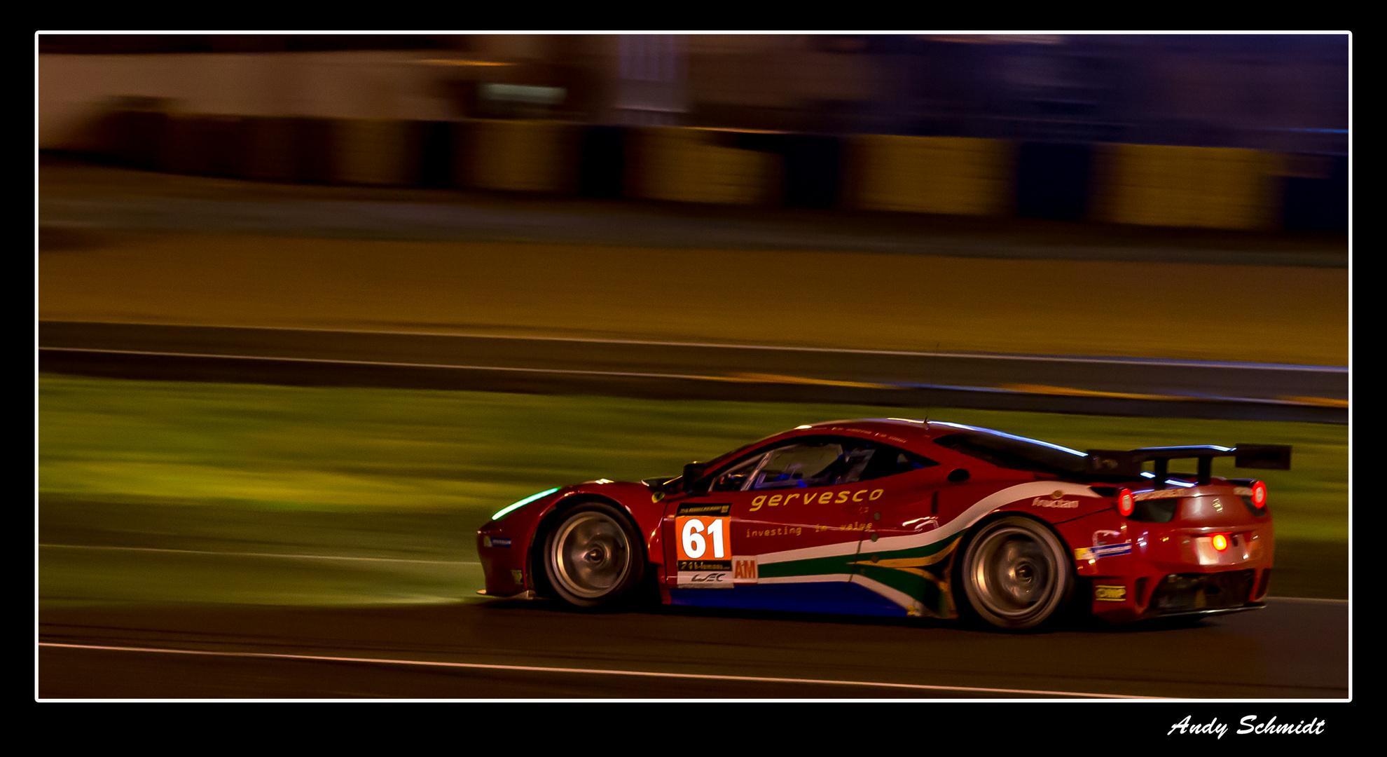 Le Mans 2013 bei Nacht immer wieder ein Erlebnis