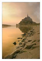 Le Mont Saint Michel at dusk
