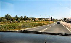 Le nouveau paysage...les moulins que je n`aime pas.