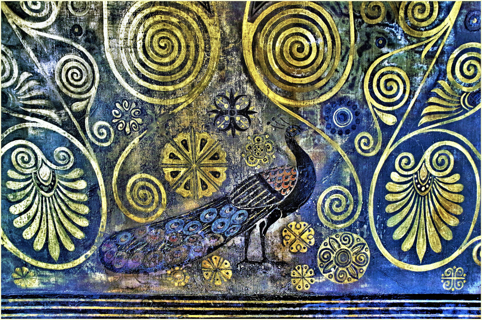 le paon , symbole de Héra , femme de Zeus