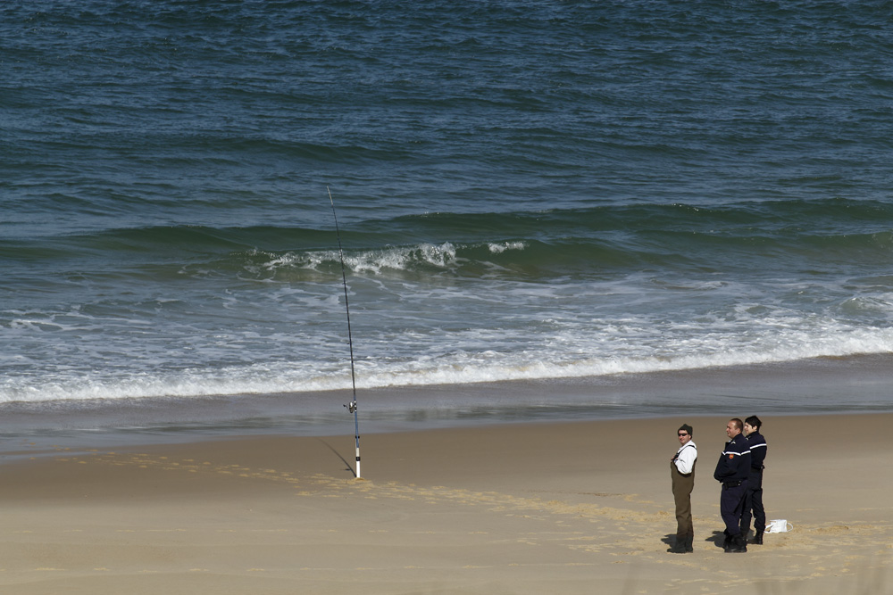 le pêcheur et ses gardes du corps !!!!