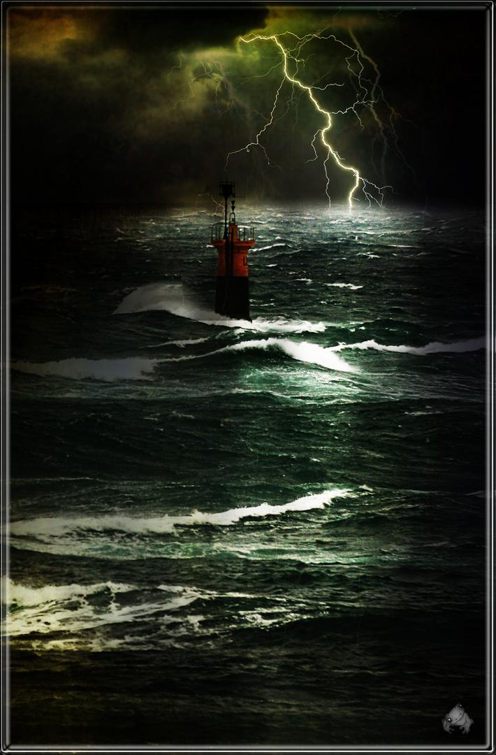 Le phare dans la nuit