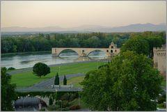 Le pont d'Avignon in abendlicher Stimmung