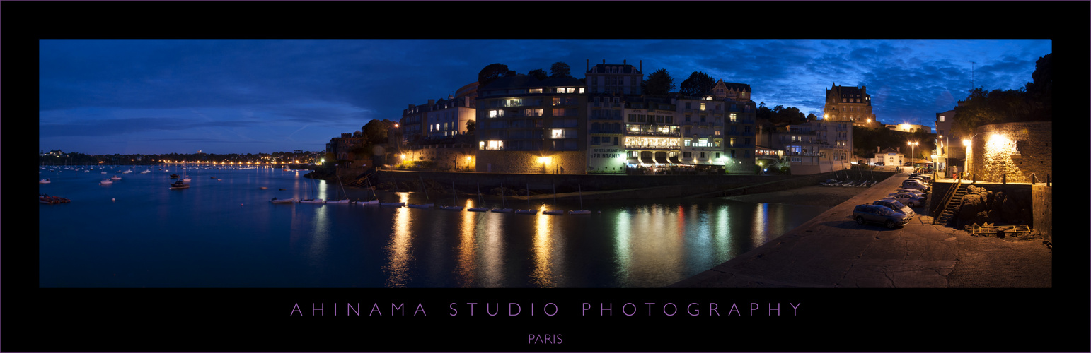 Le port de Dinard By night