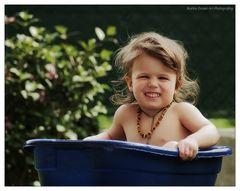 """""""Le premier bain dans le jardin :-)"""""""