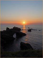 Le Rocher de la Vierge au coucher de soleil…