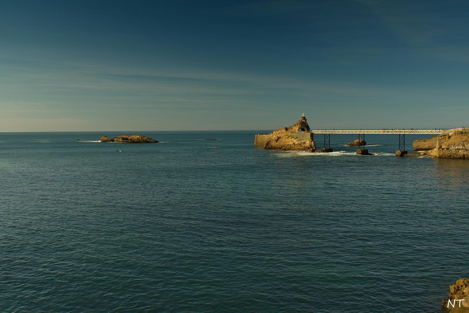 Le Rocher de la Vierge (Biarritz).