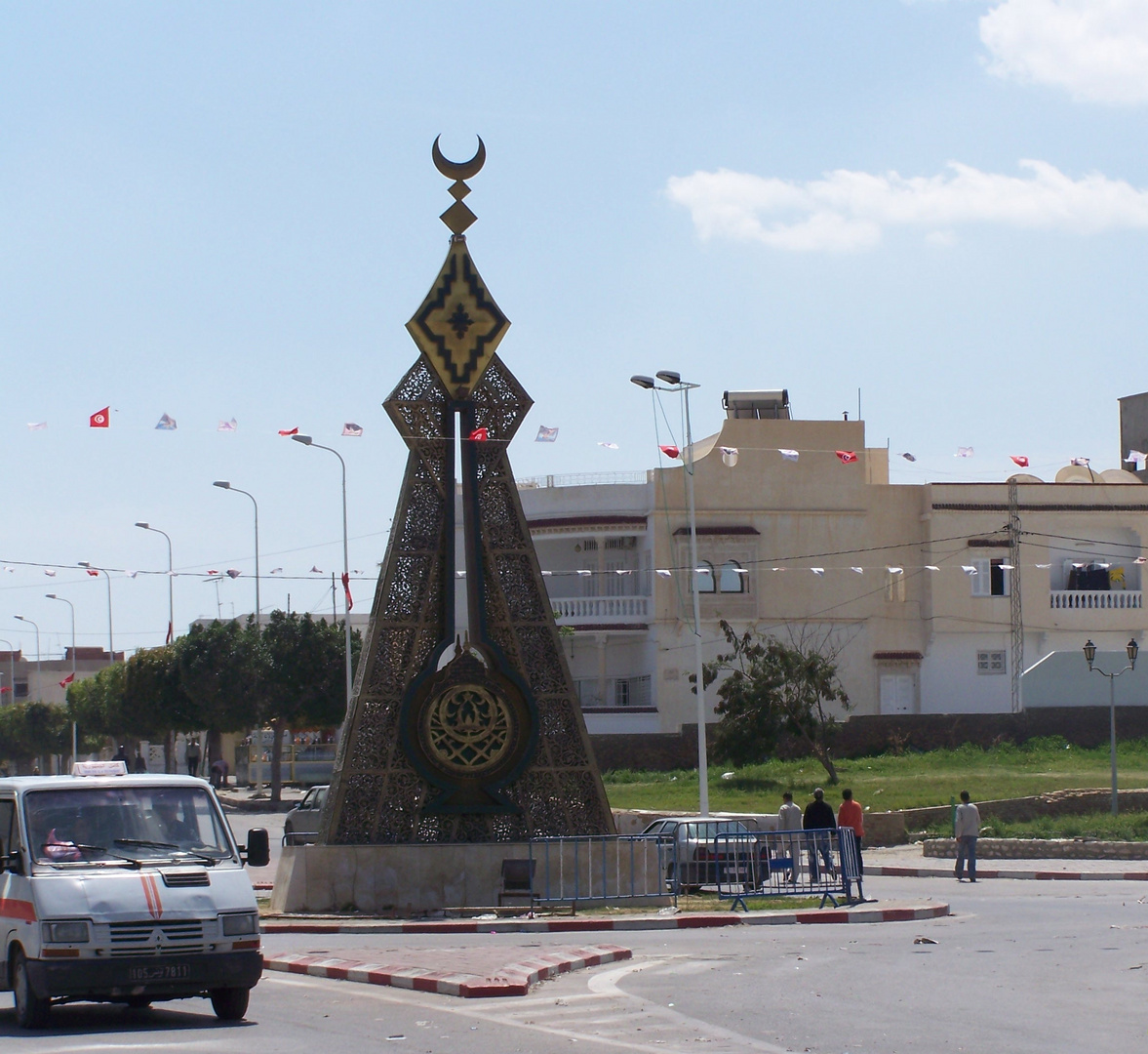 Le rond point vers la Grande Mosquée, Kairouan