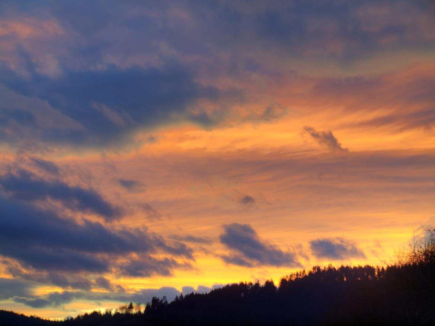 Le soir après la tempête du 26/02/10 - Der Abend nach dem Sturm am 26.02.10