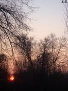 Le soleil couchant