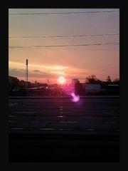 Le soleil se lève par Vienne.