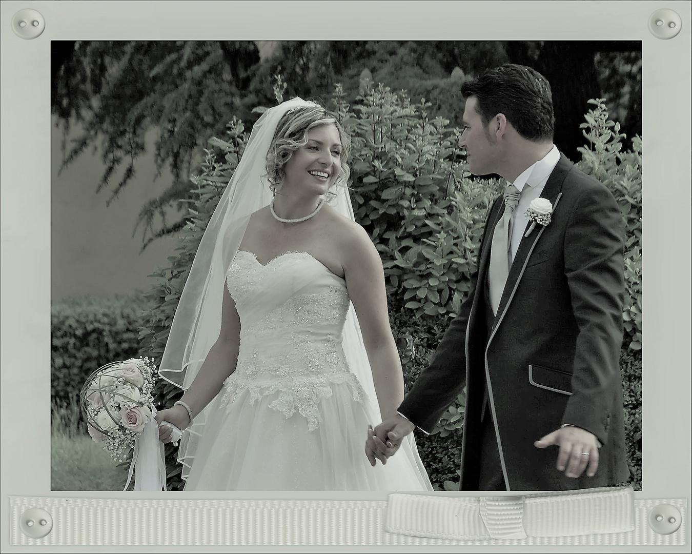 le sourire de la mariée.....