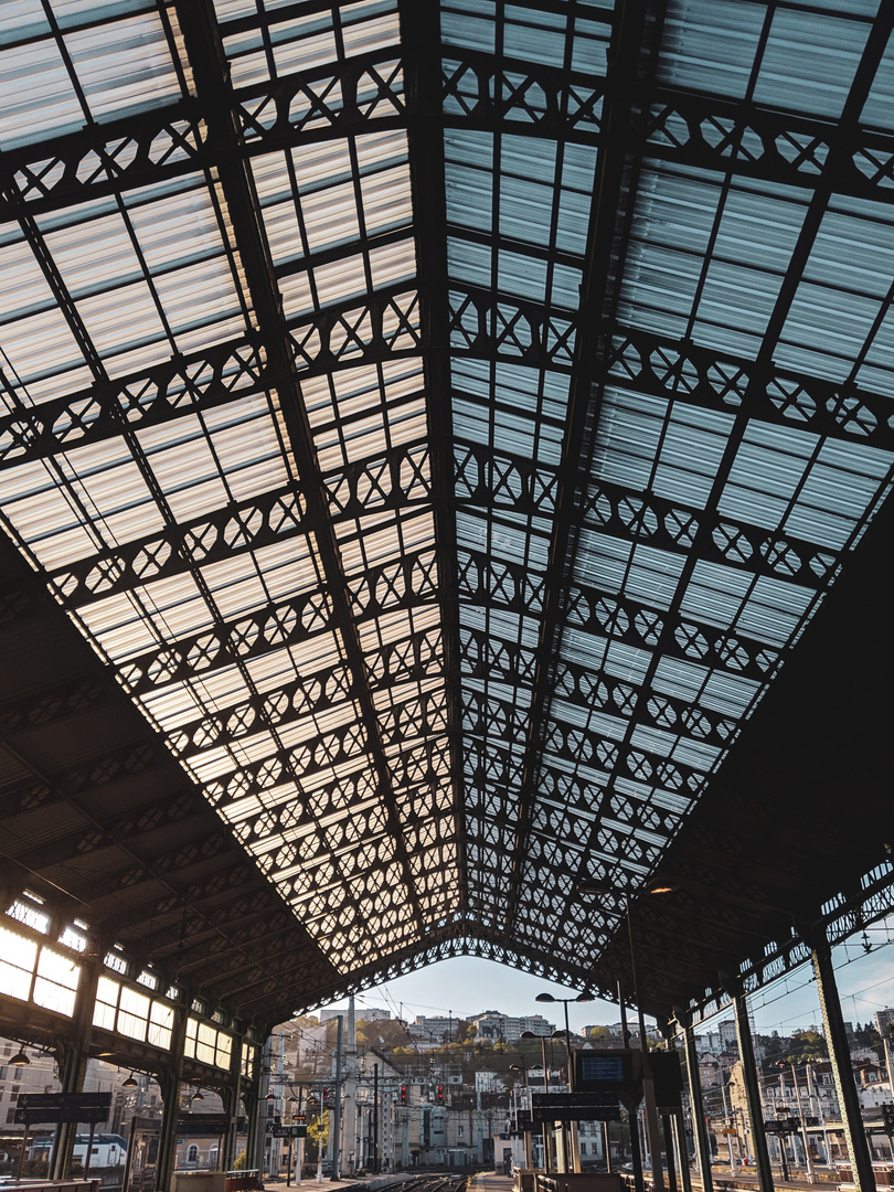 Le toit du terminal.