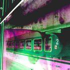 le train vert et violet