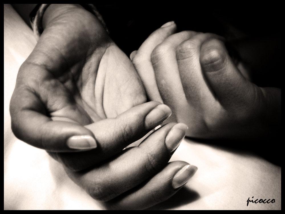 Le tue mani...