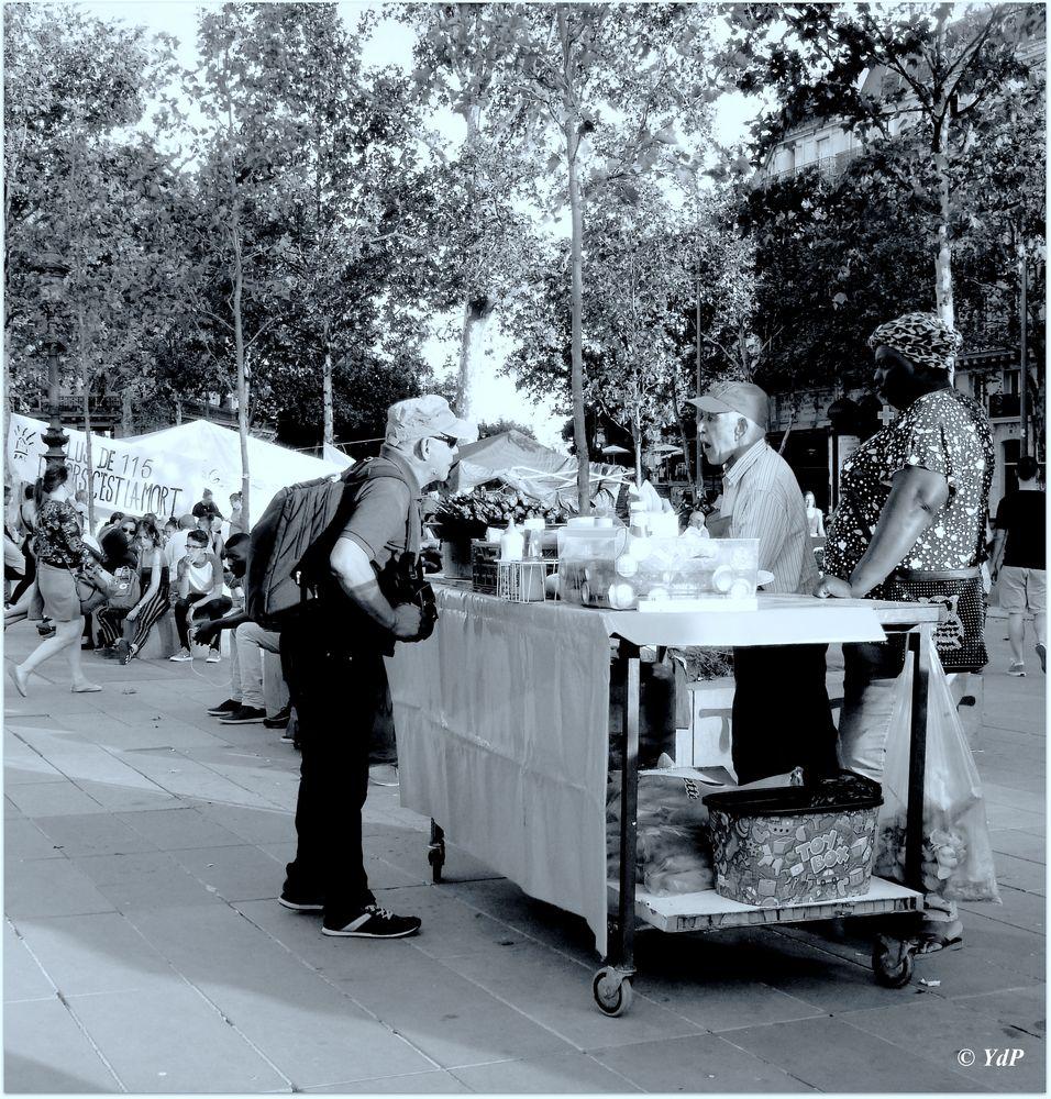 Le vendeur de kebabs itinérant...