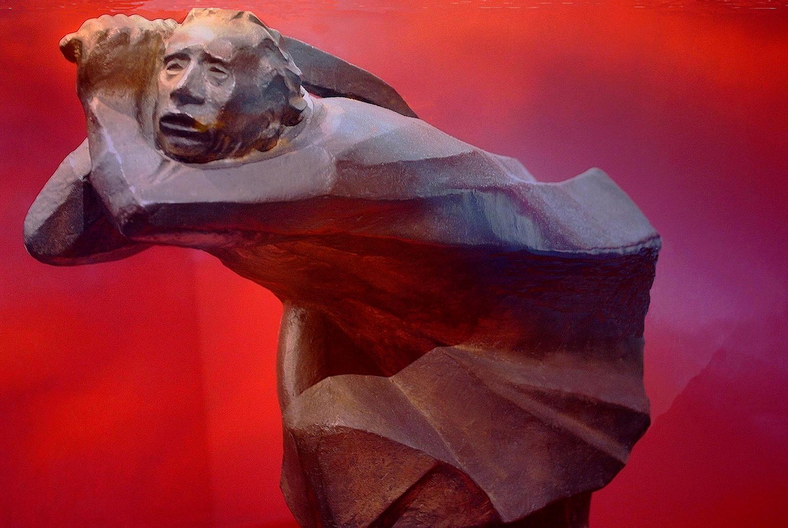 """""""Le Vengeur"""" / Sculpture réalisée en 1914"""