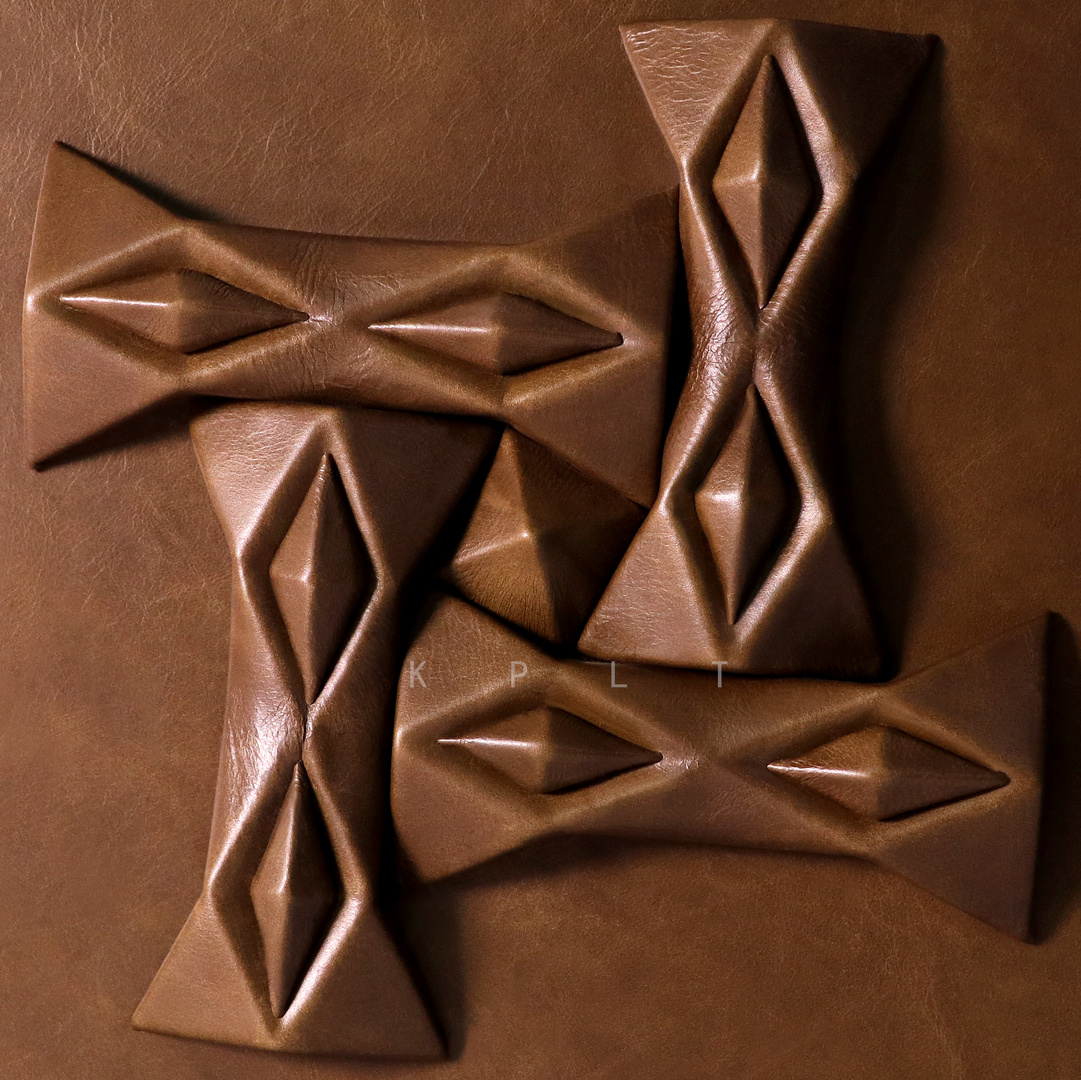 Leather Block - Bowknot