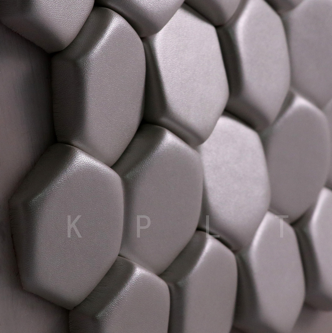 Leather pieces——hexagon——detail