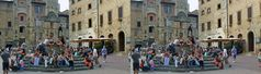 Leben auf der Piazza della Cisterna...(Kreuzblick-3D+Anaglyphen-Link+MPO-Link)