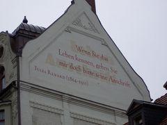 Lebensweisheit in Weimar 1