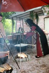 lecker Kartoffelsuppe von der schönen Marktfrau