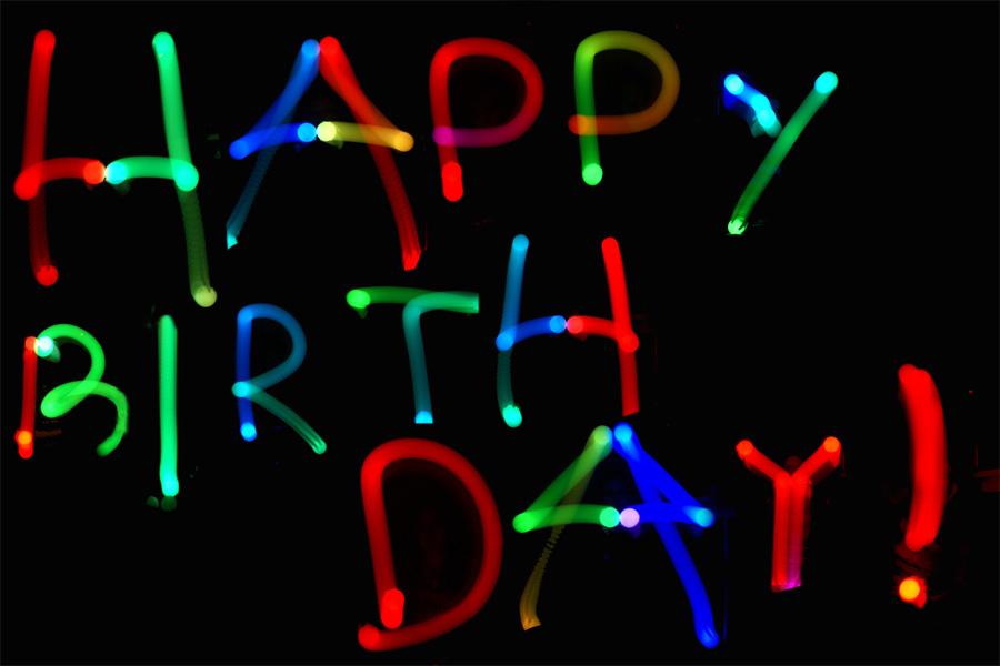 LED-Geburtstagsgrüße