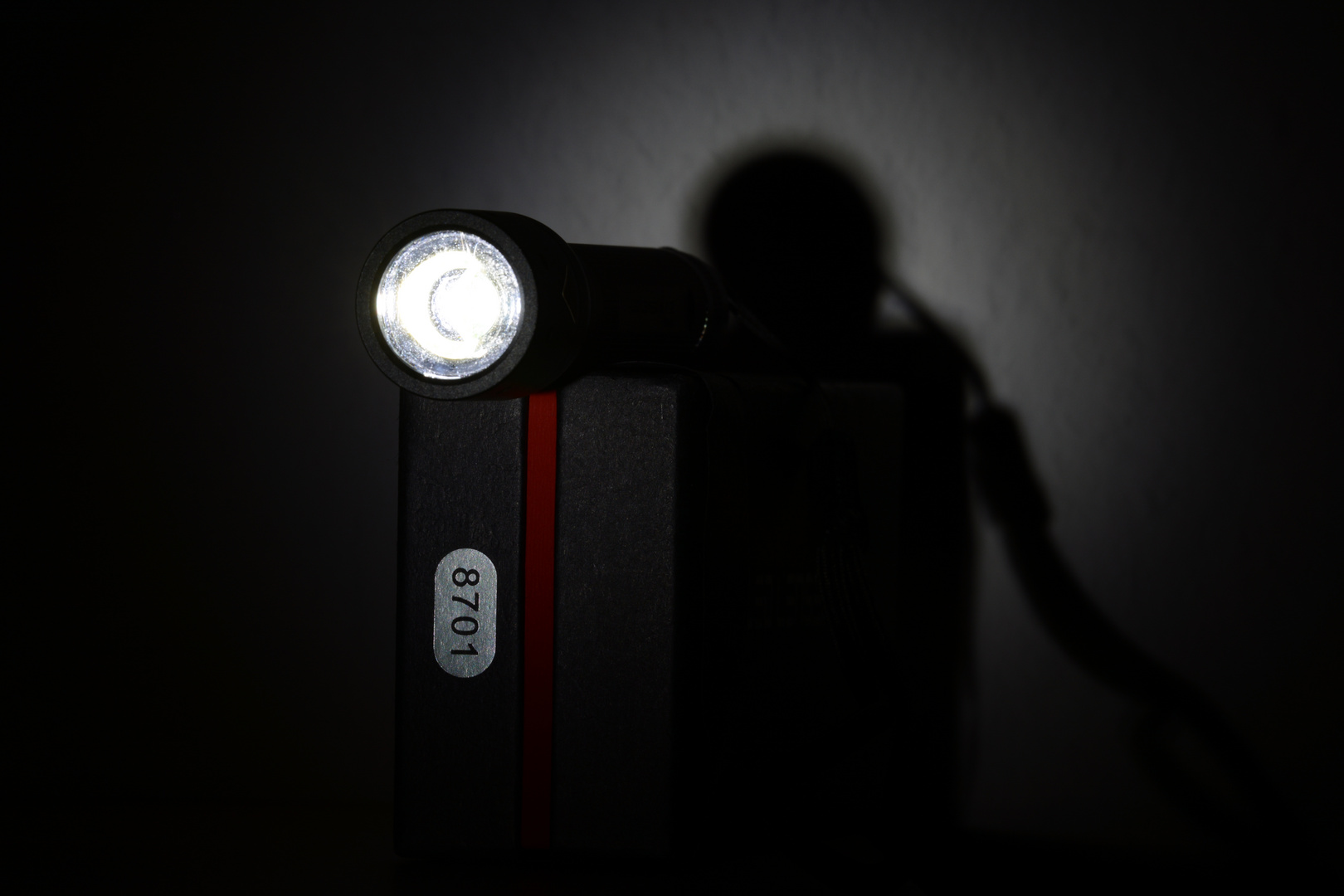 LED LENSER P5R (Zweibrüder), Linse, mit Schatten