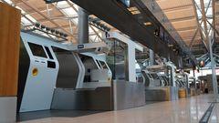 Leere in Deutschlands ältestem Flughafen