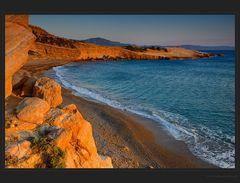 Leerer Strand von Fourni